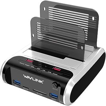 WAVLINK - Estación de conexión de disco duro USB 3.0 a SATA de ...
