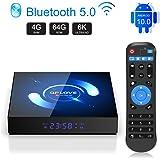 EstgoSZ Android 10.0 TV Box, QPLOVE 4GB+64GB Quad-core 4K/6K Smart TV Box, Support 2.4G/5G Dual WiFi/Bluetooth 5.0/3D/AV…