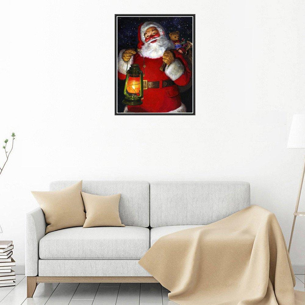 Weihnachtsdeko Auf Raten Kaufen.Amazon De Tebaise Weihnachten Karneval Deko 5d Diamant Malerei