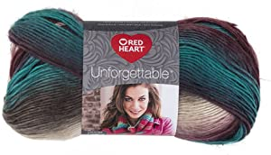 Red Heart E793-3952 Tealberry Unforgettable Yarn