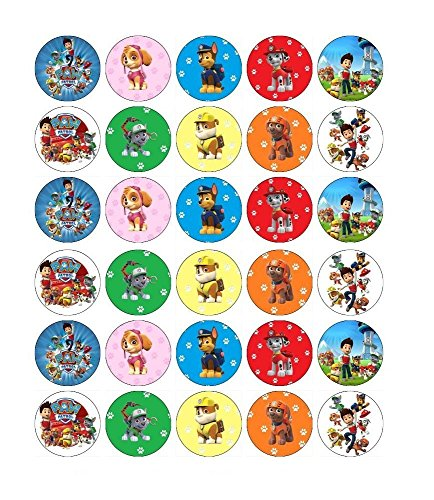 Paw Patrol Mixed Cupcake Toppers Edible Paper Wafer BUY 2 GET 3RD FREE
