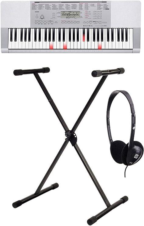 Casio LK de 280 Bombilla teclas de teclado (61 anschlagsdynamische Bombilla Bahía de botones, USB, tarjeta SD, sistema de aprendizaje de step Up, ...