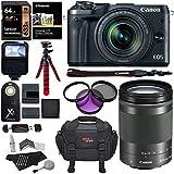 Canon EOS M6 DSLR Camera 18-150mm f/3.5-6.3 IS STM Lens Kit, Lexar 64GB Memory Card, SLR Camera Bag, Polaroid Filter Kit, Tripod and Accessory Bundle