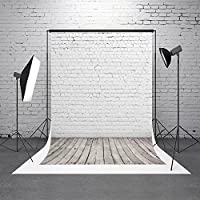 HMT 5X7ft (150cmX220cm)White Brick Wall Photography Backdrop Scenery Photo Portrait Studios Background
