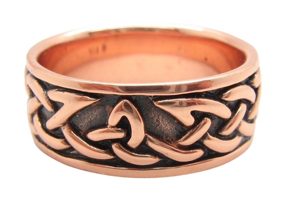 Copper Celtic Knot Ring CRI1358 - 5/16'' wide. Available in sizes 5 -15. (8)
