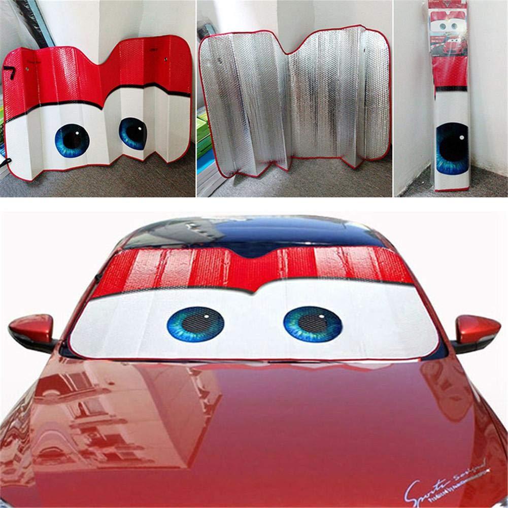 Parasol Parabrisas Delantero De Coche con Dise/ño Ojos Dibujos Animados Car Blue Parasol Protector Solar para La Parabrisa Delantera del Coche Cubierta Protectora contra Rayos Ultravioletas