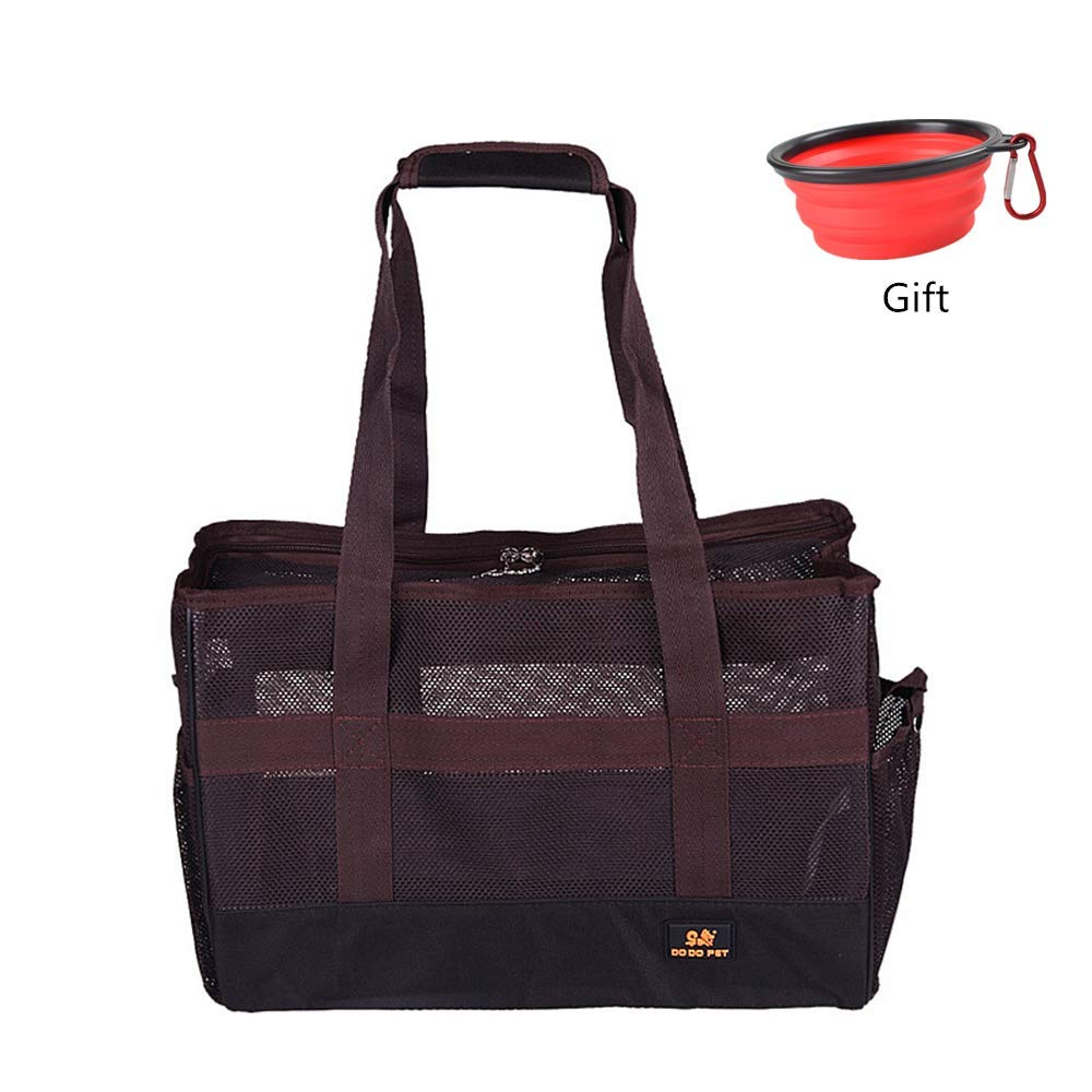 Brown S brown S Pet Carrier Soft Dog & Cat Small Carrier, Collapsible Pet Travel Carrier S-L (S,Brown)