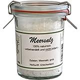 direct&friendly grobes Meersalz 150g im Weck-Glas - ideal für die Salzmühle