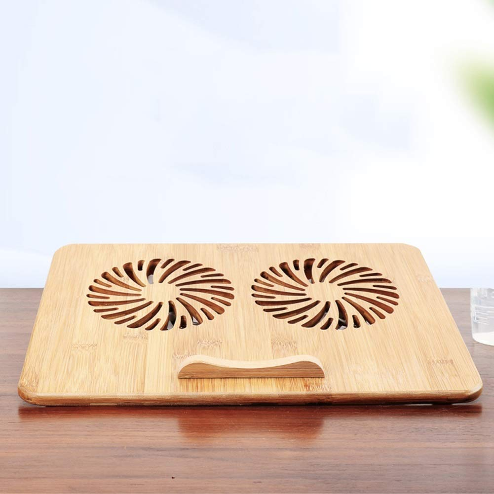 Ho,ney Wooden Laptop Radiator - Folding Portable Dual USB Baffle Adjustment, 2 Variable Heights for 17'' -1053 Notebook Cooler by Ho,ney (Image #3)