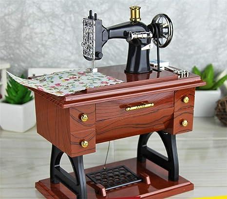 BIANJESUS Vintage Mini Máquina de Coser Estilo de la Caja de ...