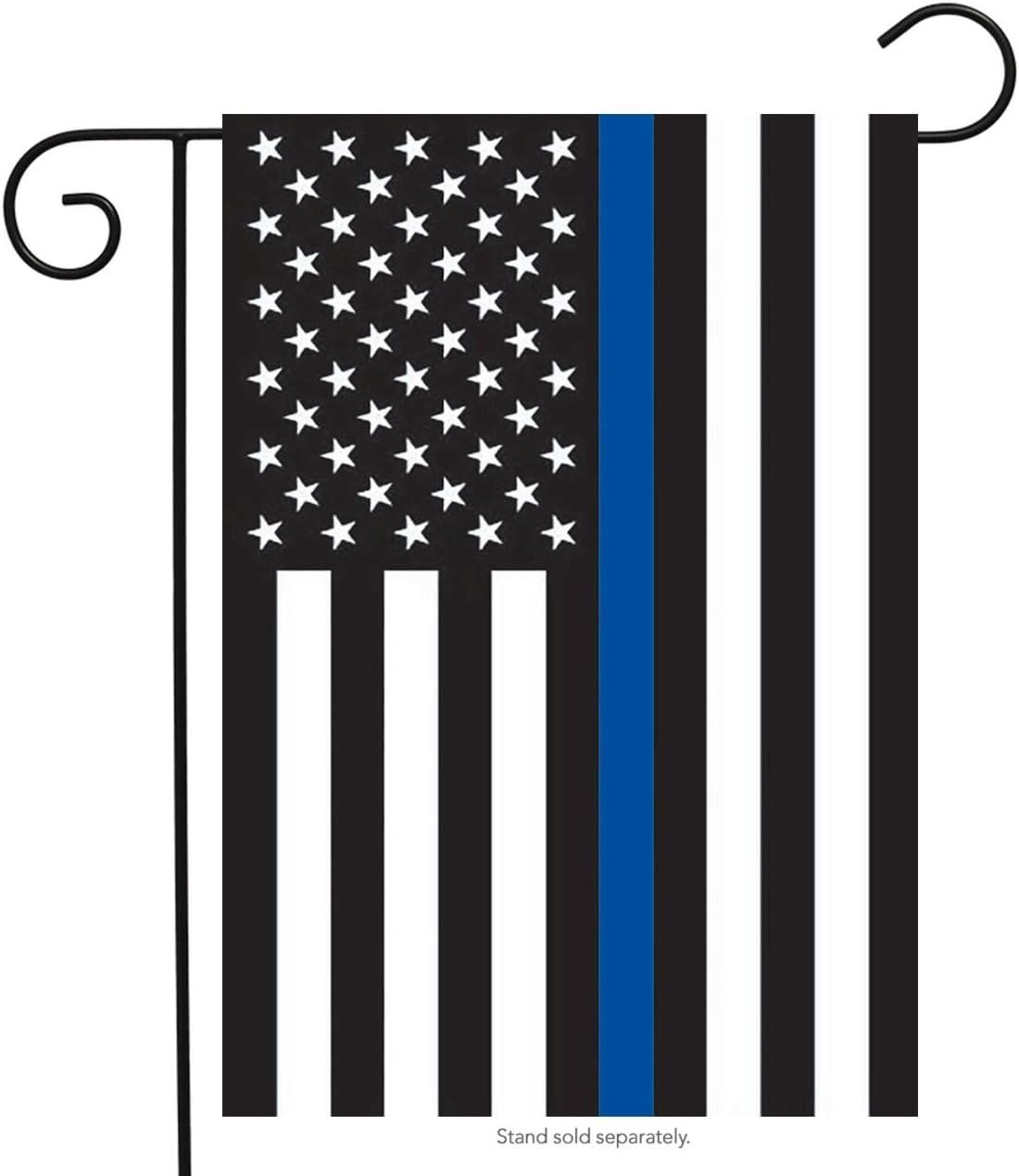 "Briarwood Lane Thin Blue Line Police Garden Flag Patriotic Emergency Services 12.5"" x 18"""