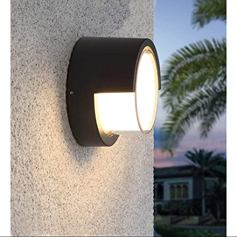 Amazon Com Pathson Outdoor Wall Sconce 8w Led Lamps Waterproof Modern Low Profile Lighting Fixtures 3000k Warm White Wall Mount Light For Porch Courtyards Matte Black Finish Warm Light Home Improvement