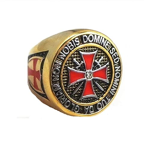 Amazon.com: Knight Templar Ring - Masonic College Style GOLD Color ...