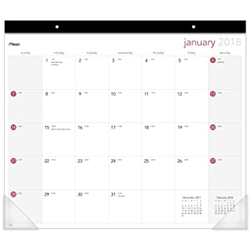 mead desk pad calendar january 2018 december 2018 19 34quot