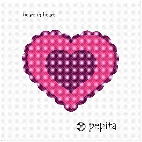 pepita Heart in Heart Needlepoint Canvas ()