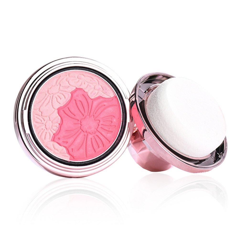 allbesta Petal Cushion Rouge Pure Mineral Luminous Rose Natural Poudre avec Sponge Maquillage visage Cheek Blusher Kit