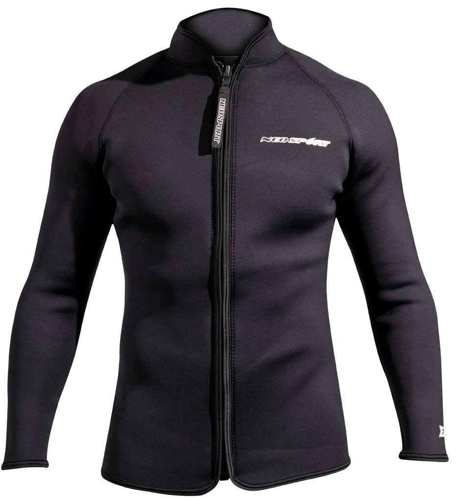 NeoSport 3-mm XSPAN Jacket (Black, Medium) - Diving Jacket for Water Sports, Diving & Snorkeling by Neo-Sport