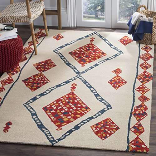 (Safavieh APN702A-7SQ Aspen Collection Area Rug, 7' Square, Ivory/Multi)