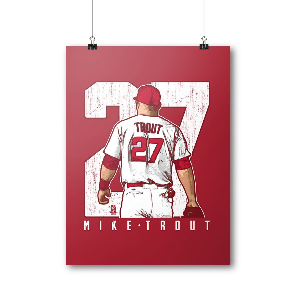 Mike Trout Clutch 500 LEVEL Mike Trout Los Angeles Baseball Wall Poster