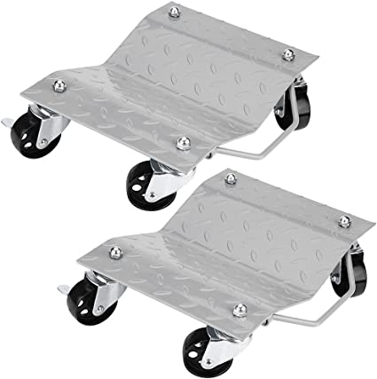 2/pieza de carro de visita Soporte neum/ático carga de hasta 1500/lbs//680/kg para desplazamiento coche auotomobile Chariots de contenedores para veh/ículos