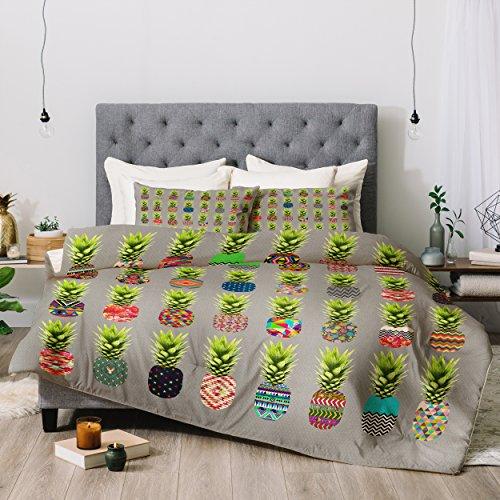 Deny Designs Bianca Green Pineapple Party Comforter Set, King