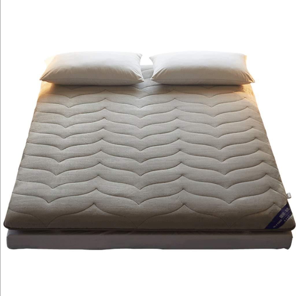 A 120X200cm 7cm Thick Mattress, Comfortable Warm Sponge Pad, Both Sides are Available (color   B, Size   120X200cm)