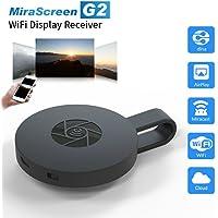 Chromecast MiraScreen Anycast Wifi Receptor Audio & Video Airplay Miracast Dongle Visualización con Enchufe HDMI para Teléfonos Inteligentes Notebook PC Tablet a Monitor de HDTV