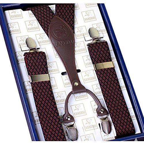 Clips En Clip Forme Bretelles Ahatech V 2 Elastiques 4 Homme on Classique Cuir Réglables Couleur Ew8H8zqXP