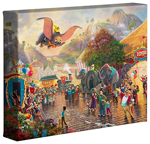 Thomas Kinkade Studios Dumbo 8 x 10 Gallery Wrapped Canvas ()