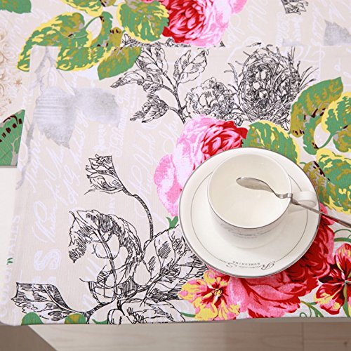 SAEKLL-European-configuration Green Butterfly table cloth towel fabric trade pastoral Gabe Klein tablecloths printing comestible table runner table cloth,140180cm/750g