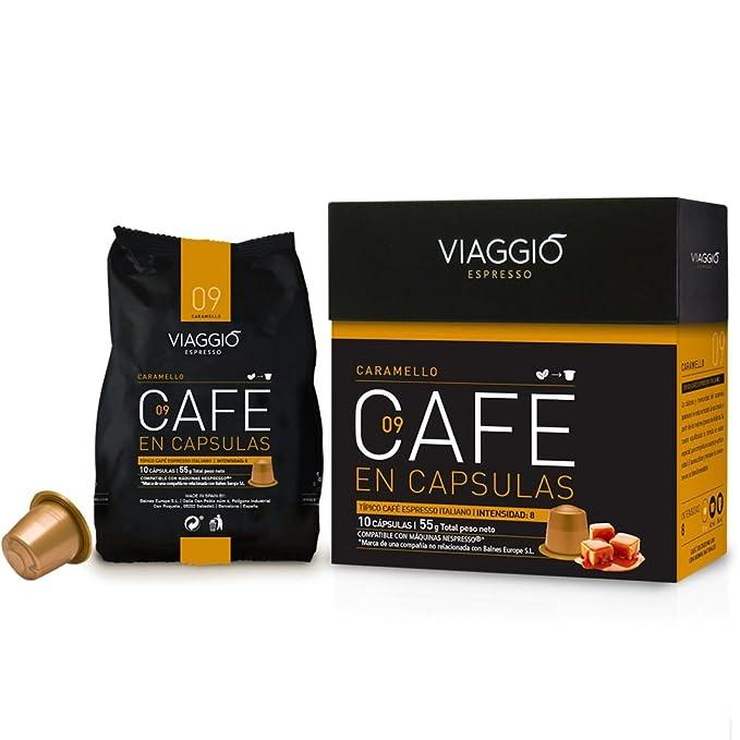 VIAGGIO ESPRESSO - 60 Cápsulas de Café Compatibles con Máquinas Nespresso - CARAMELLO: Amazon.es: Alimentación y bebidas