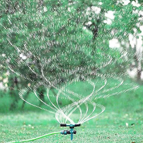 PXTAI Garden Sprinkler, 360° Rotating Yard Sprinkler, Ground Covered Lawn Sprinkler Automatic Spray with for Garden, Yard,Kids