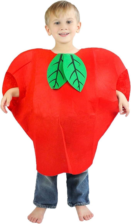 Petitebella - Disfraz de Manzana roja Unisex para niños: Amazon.es ...