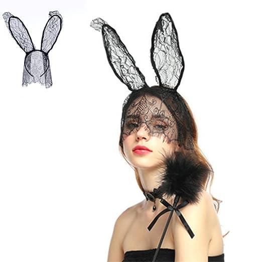 XDLiu - Vela de Encaje para Disfraz de Conejo, Orejas largas ...