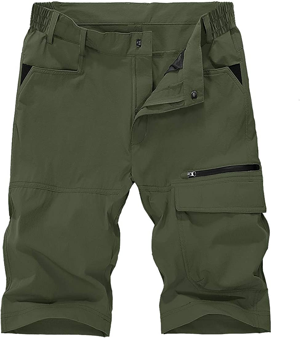 XKTTAC Men-Hiking-Shorts Strench Lightweight Outdoor Quick-Dry-Shorts with Multi-Pockets