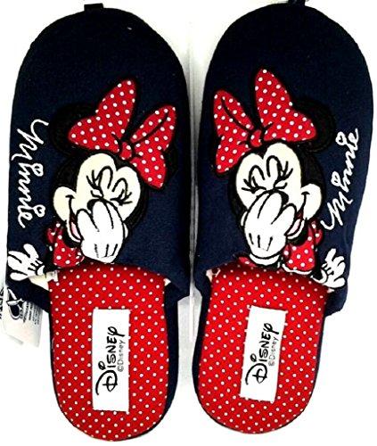 DE FONSECA DISNEY MINNIE pantofole ciabatte da donna/ragazza mod. ROMA W180 cotone blu