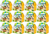 Zoo Animal Theme Goody/Treat Boxes - 36 Pack