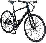 Schwinn Vantage Mens/Womens Sport Hybrid Bike, 18-24 Speed Drivetrain, Aluminum Frame,