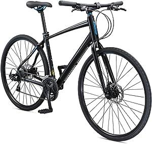 Schwinn Vantage Mens/Womens Sport Hybrid Bike, 18-24 Speed Drivetrain, Aluminum Frame, Flat Bar, Disc Brakes, Smooth Ride Technology, Multiple Colors