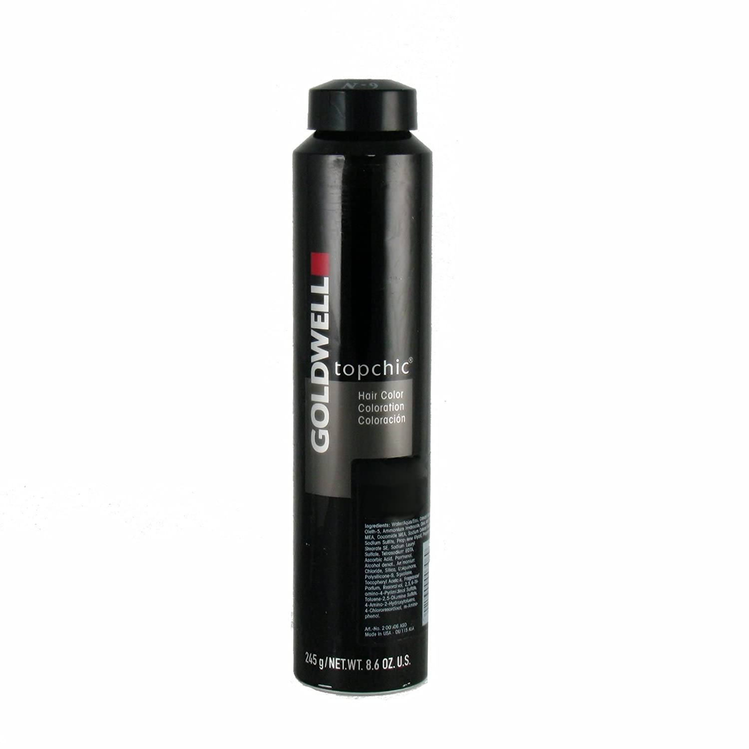 Goldwell Topchic Hair Color Coloration Can 2n Black 85off
