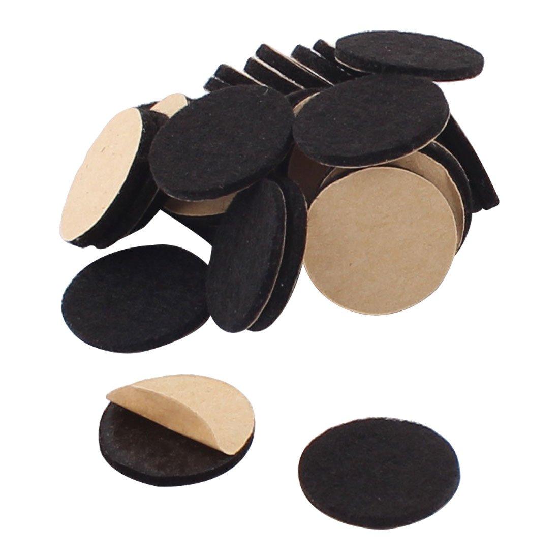 uxcell Houseware Self Stick Protecting Protecter Furniture Felt Cushions Pads Mats 20mm 30pcs Black a16050600ux0707