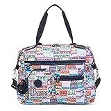 Kipling Women's Carton Printed Travel Tote Bag One Size Hello Weekend