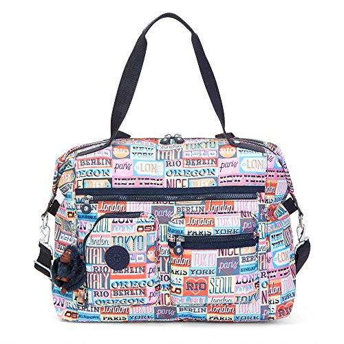 Kipling Women's Carton Printed Travel Tote Bag One Size Hello Weekend by Kipling