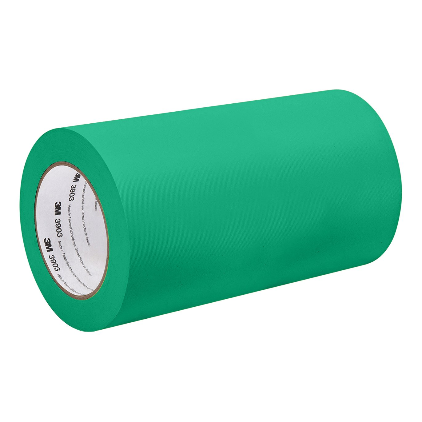 3 Width 3 Width 50 yd 3M Green Vinyl//Rubber Adhesive Duct Tape 3903 Length 3-50-3903-GREEN 12.6 psi Tensile Strength
