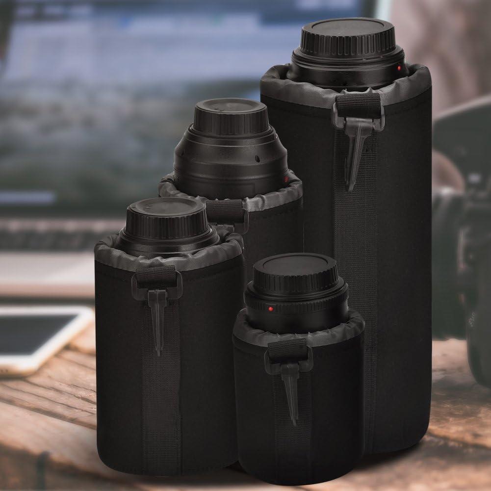 Large Medium 4 Pcs Lens Case Lens Pouch Bag Set Protective Case Shockproof Storage Pouch for DSLR Camera Lens Includes: Small XL arge Size