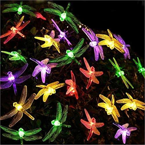 Luces solares Decoración al aire libre Festival de faroles 22m200LED Cadena de luces Jardín Jardín Iluminación interior: Amazon.es: Iluminación