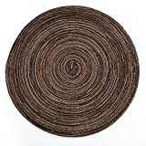Fenleo Round Table Placemats - Wide 13.8 Inch Woven Braided and Modern Dining Mat for for Indoor or Outdoor, Perfect for Halloween, Dinner Parties, BBQs and Everyday Use