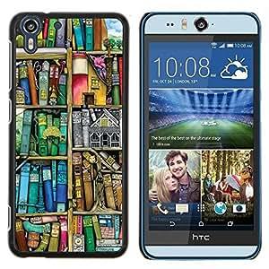 Stuss Case / Funda Carcasa protectora - Lectura Pastel Biblioteca Profesor trullo - HTC Desire Eye ( M910x )