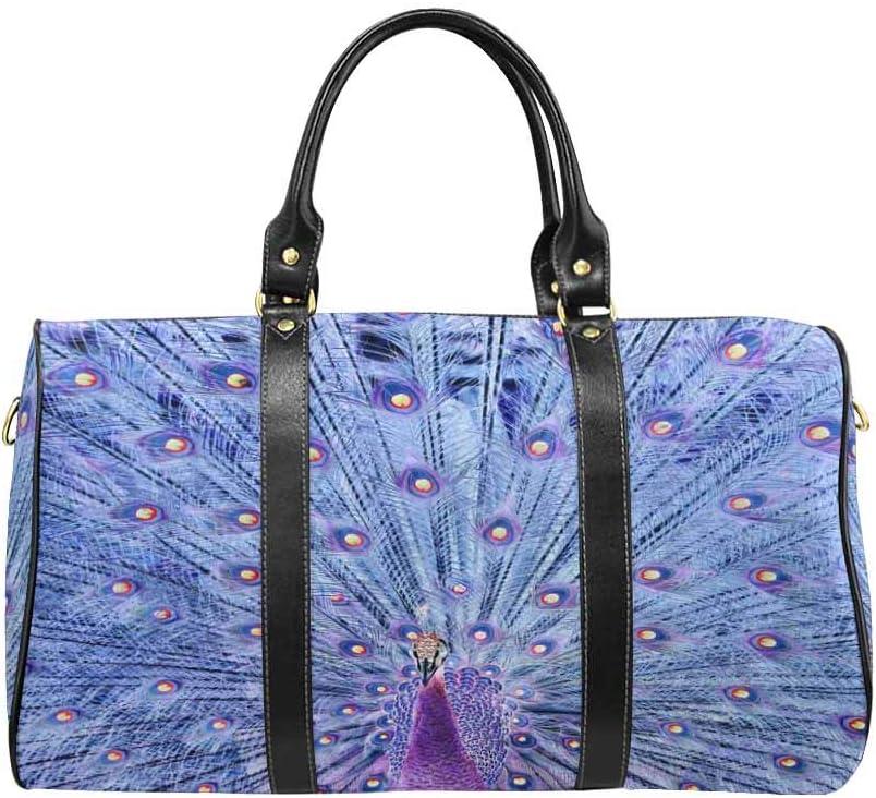 Flight Bag Gym Bag Peacock in Negative Film Style InterestPrint Large Duffel Bag