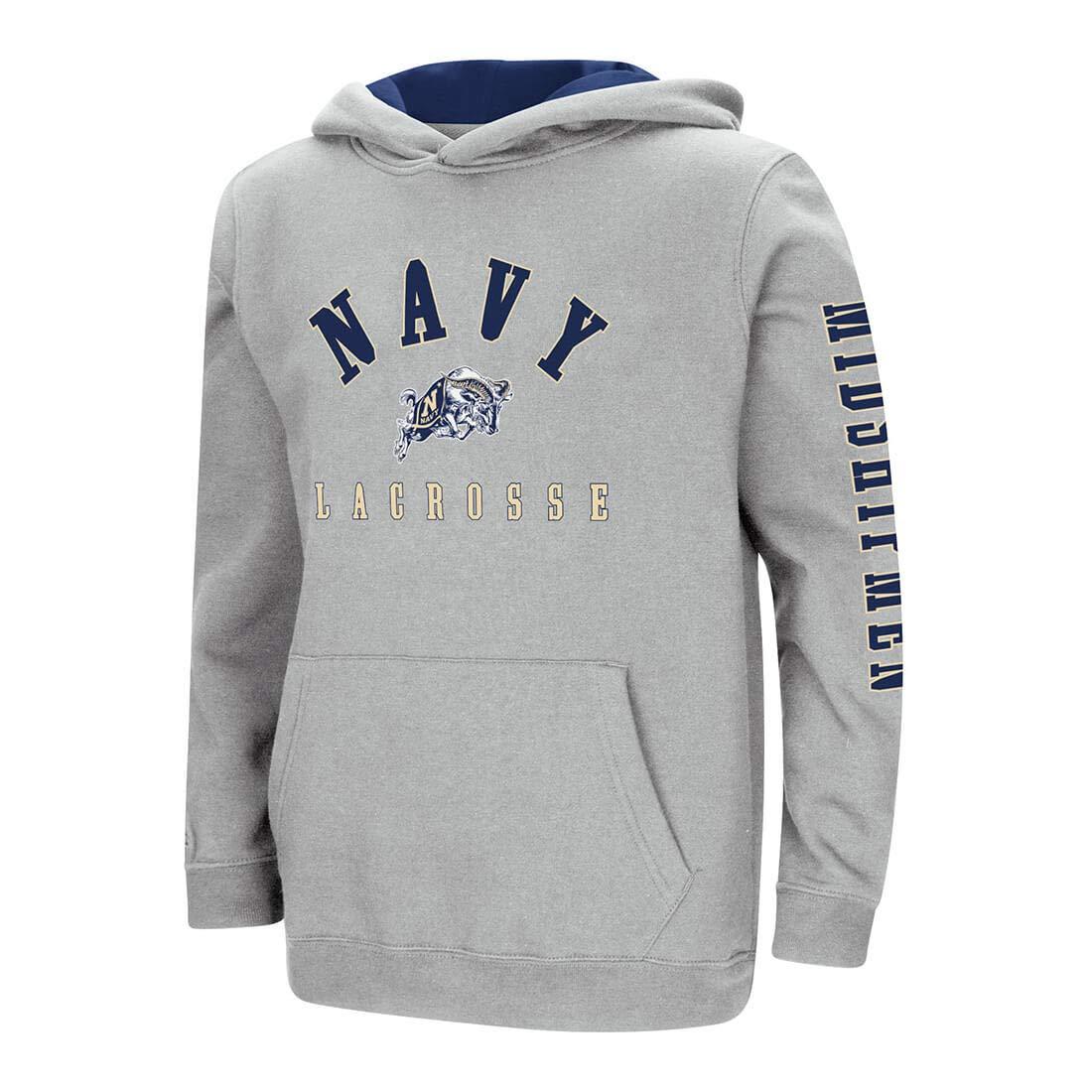 Navy Midshipmen Lacrosse Youth Hoodie